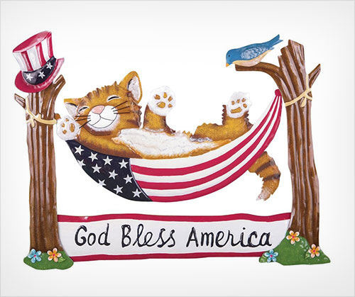 Patriotic-Cat-Hammock-Garden-Stake-4th-July-Ourdoor-Decoration-(God-Bless-America)