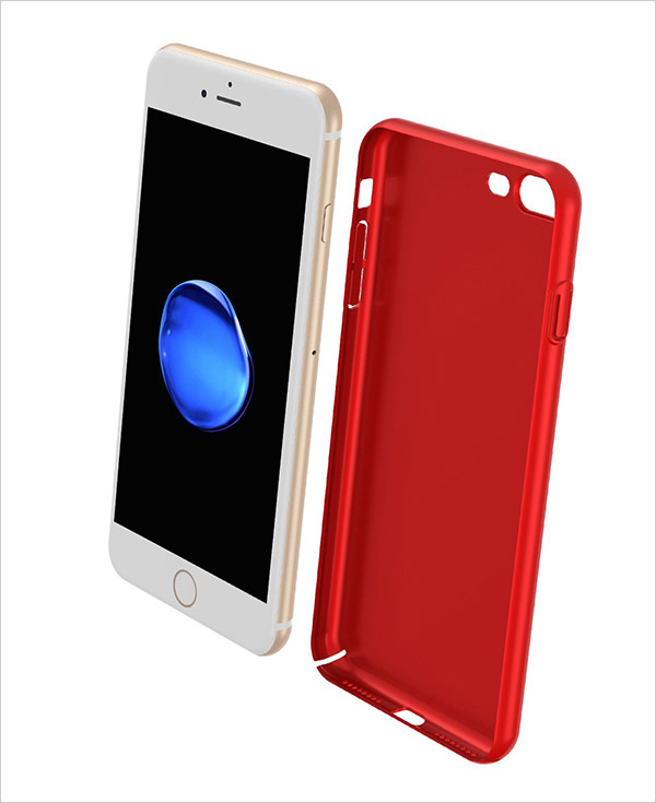 Red-iPhone-7-Plus-Case,Ultra-Slim-Fit-Shell