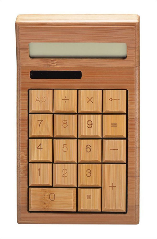 Smart-Tech-Handcrafted-Natural-Bamboo-Wooden-Calculator-Enviorment-Friendly