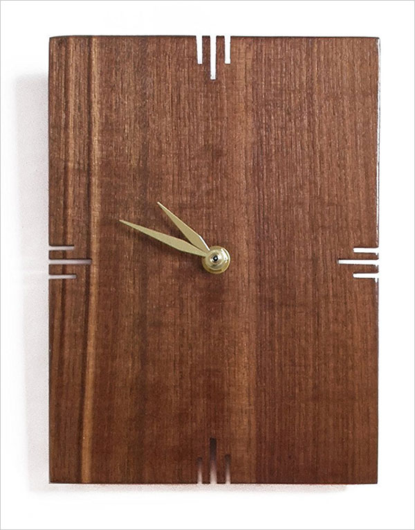 Walnut-wall-clock