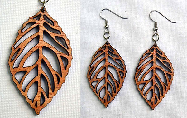 Wood-Leaf-Earrings-from-Solid-Mahogany