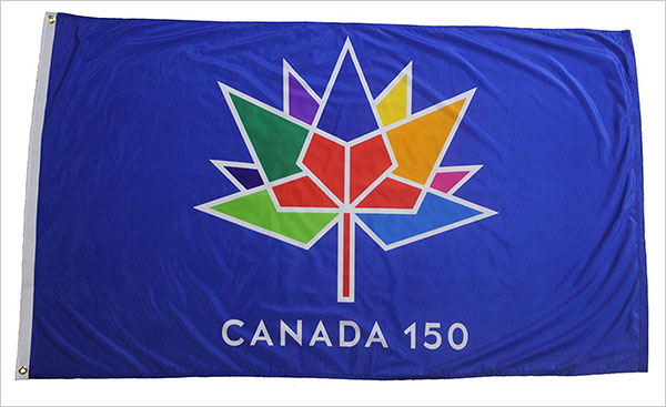 CANADA-150-Year-Anniversary-1867---2017-3-x-5-Feet-Blue-Flag