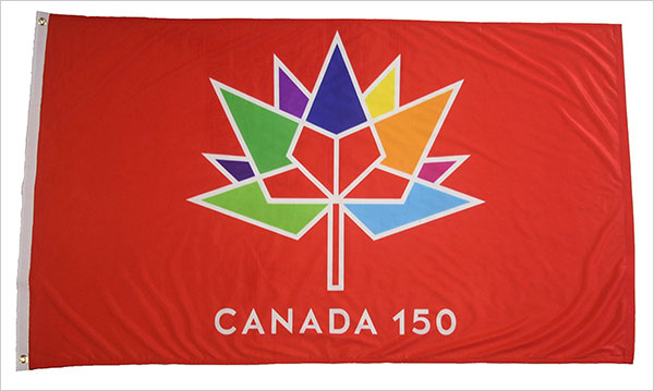 CANADA-150-Year-Anniversary-1867---2017-RED-3-x-5-Feet-Flag