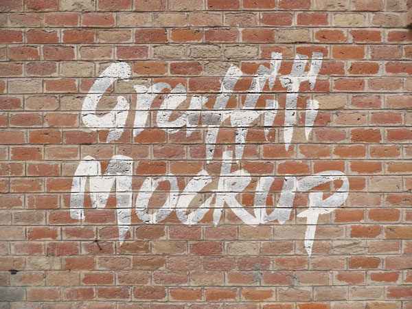 Free Logo Amp Graffiti Brick Wall Mock Up Psd