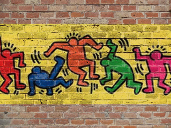 Free Logo Graffiti Brick Wall Mock Up Psd