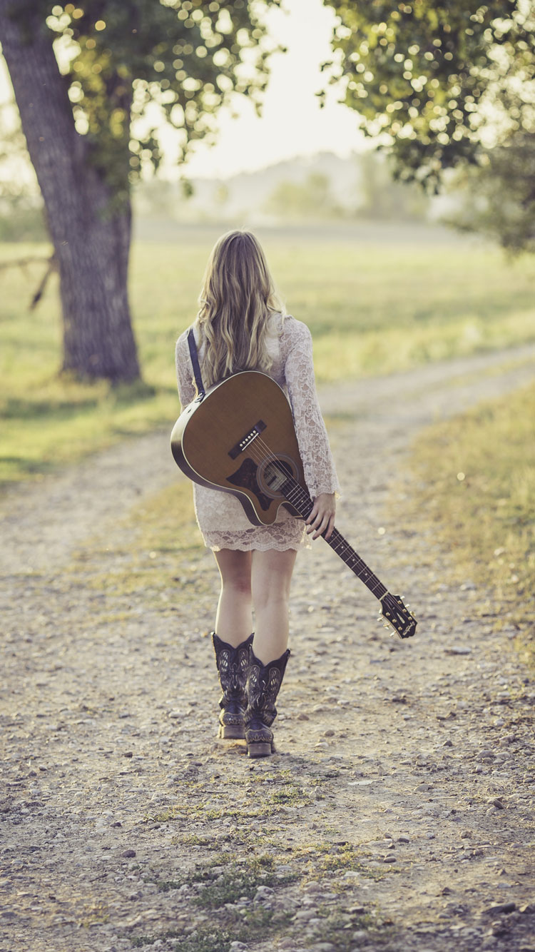 Girl-with-guitar-iPhone-7-Wallpaper-HD