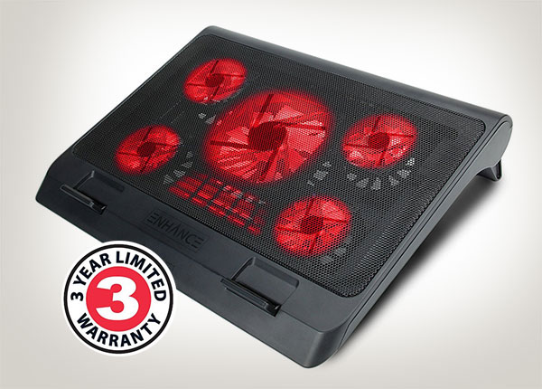 Laptop-Cooler-Pad-with-5-Oversized-LED-Fans-for-Max-Cooling