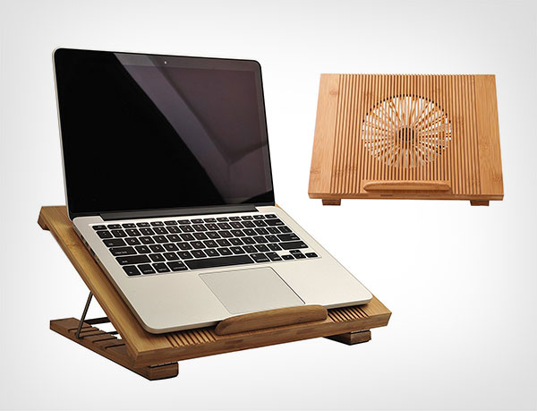 Laptop-Cooling-Pad-Beaucoup-Cooler-Pad-Laptop-Desk-Laptop-Table-Bamboo-100%-Cooling-Fan-Stand-for-Laptops