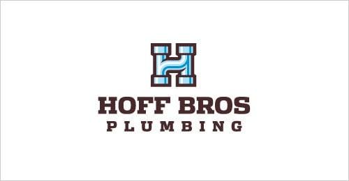 Letter-H-Hoff-Bros-Plumbing-Logo-Design