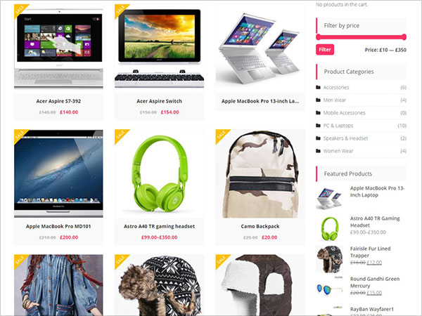 10 Best Free Latest E-Commerce WordPress Themes of April 2017