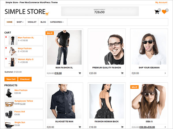 Simple-Store-child-theme-of-MaxStore-WooCommerce-theme