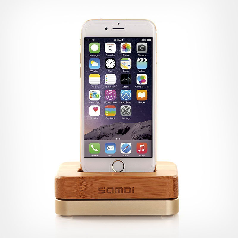 iPhone-7-Bamboo-Wooden-Aluminum-Single-Charging-Dock