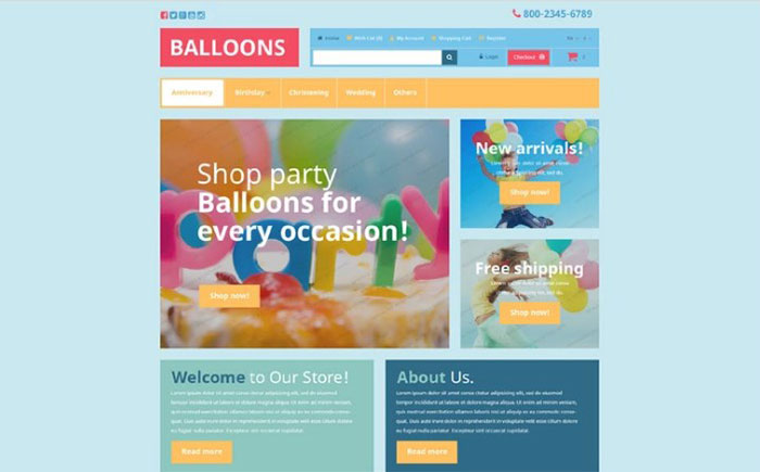 Free Entertainment OpenCart Template