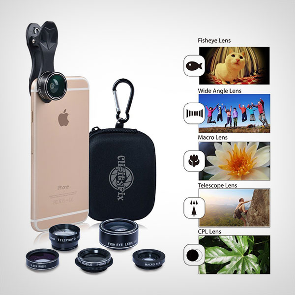 ClipityPix-5-in-1-Universal-Clip-On-Cell-Phone-Camera-Lens-Kit-for-iPhone-7-Plus