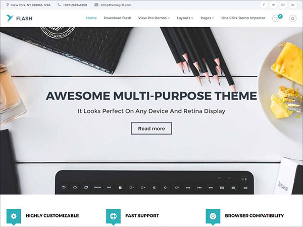 Flash-free-responsive-multipurpose-WordPress-theme-perfect-for-business-website