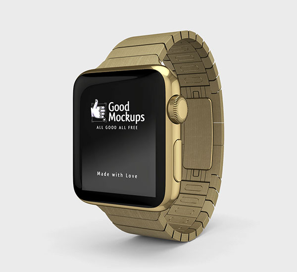 Free-Apple-Watch-Mockup-PSD-with-Gold-Stainless-Steel-Strap