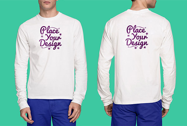 Free-Backside-White-Long-Sleeves-T-Shirt-Mockup-PSD