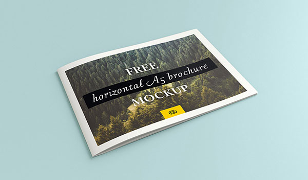 Free-Bi-Fold-Landscape-A5-Brochure-Mockup-PSD