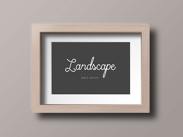 Free-Wood-Photo-Frame-Mockup-PSD-Landscape