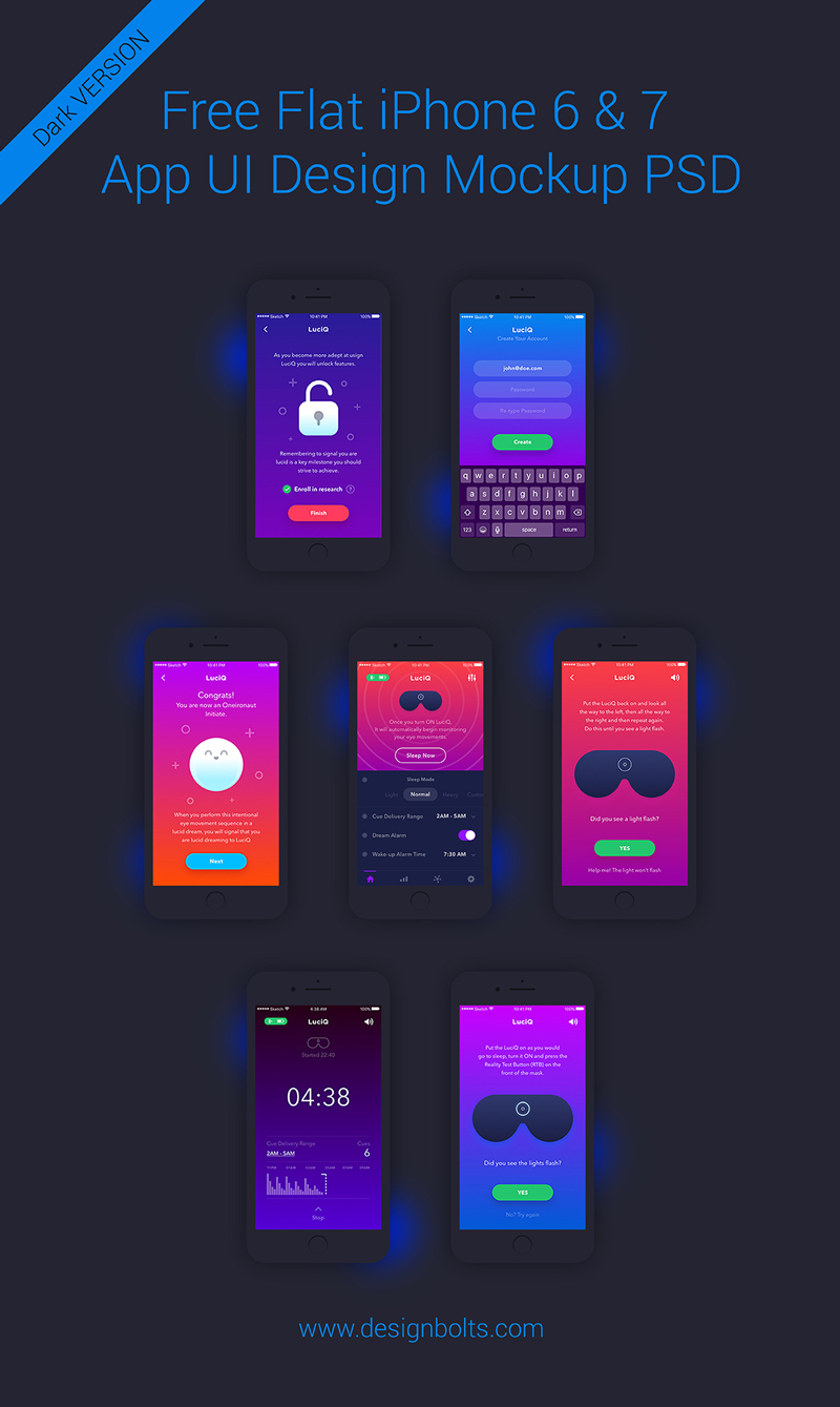 Free-iPhone-6-&-7-App-UI-Design-Mockup-PSD-(Dark-Version)
