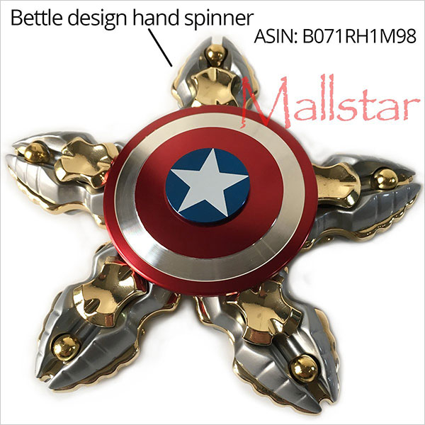Hand-Spinner-Fidget-Gyro-Toy-Captain-Shield-Dual-Design-3