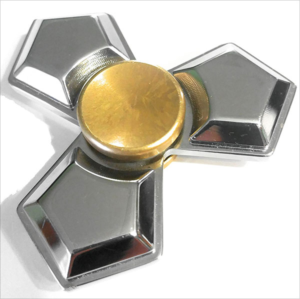 Premium-Quality-Fidget-Tri-Spinner-Heavy-SOLID-Brass-Dipped-in-Chrome
