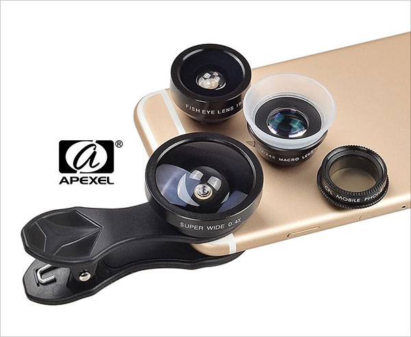 Apexel-5-in-1-Clip-on-Cell-Phone-Lens-Kit