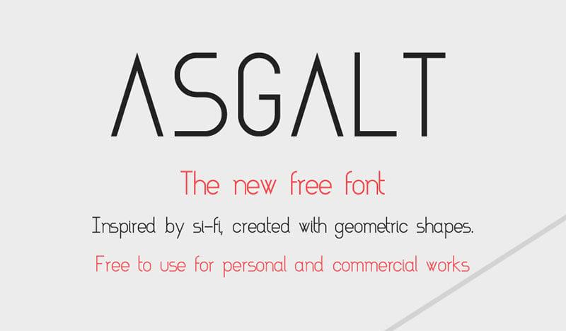 Asgalt Best Free Thin Font