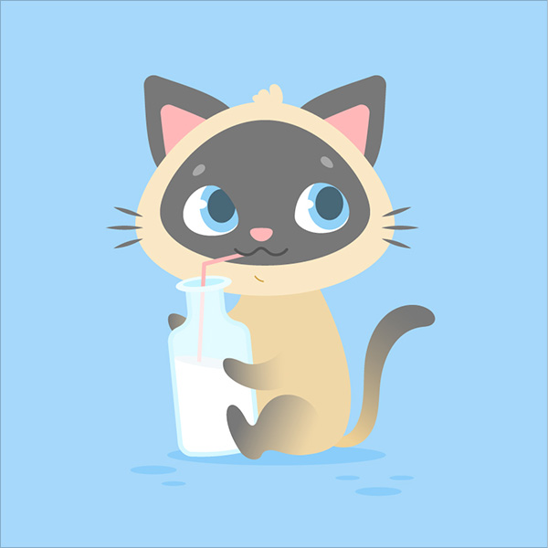 Cute-Cartoon-Kitten-in-Adobe-Illustrator