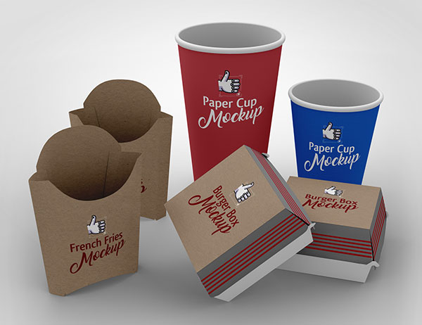 Free-French-Fries-Burger-Paper-Cup-Packaging-Mockup-PSD-Scene