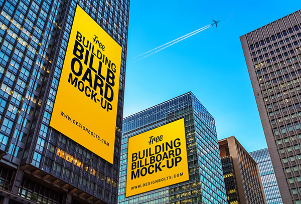 Free-Outdoor-Advertising-Building-Billboard-Mockup-PSD
