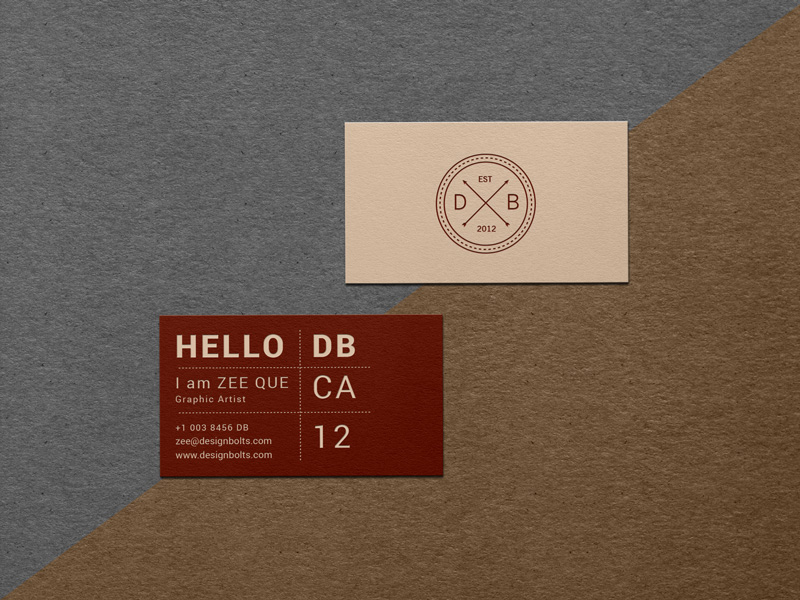 Free textured business card mockup psd reheart Images