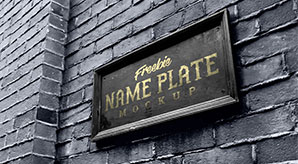 Free-Wall-Mount-Name-Plate-Logo-Mockup-PSD-