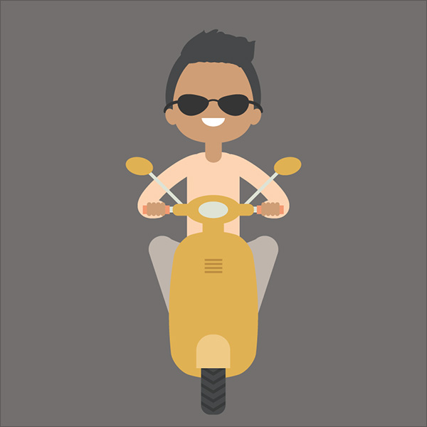Illustration-of-a-Boy-on-a-Scooter-in-Adobe-Illustrator