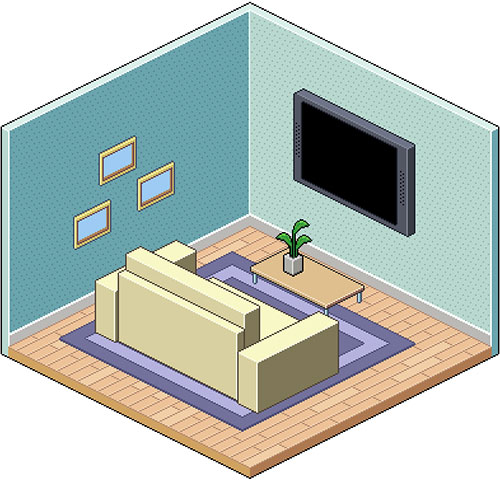 Isometric-Pixel-Art-Room-in-Adobe-Photoshop-tutorial