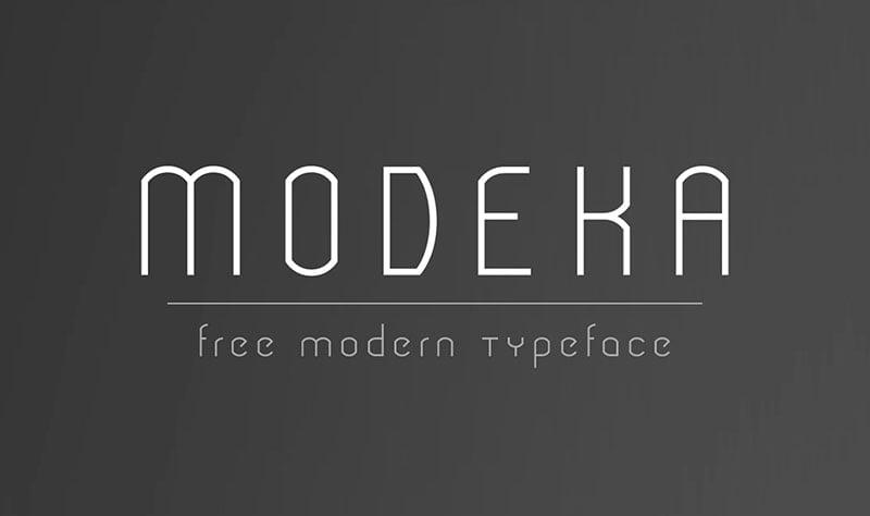 Modeka-Free-Modern-Font-download