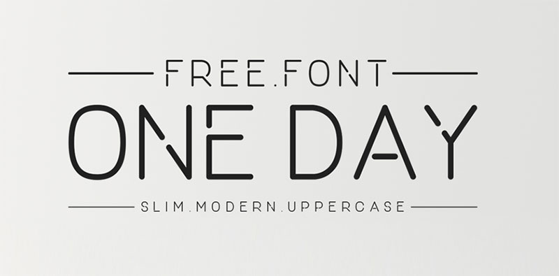 One Day Free Slim Modern Font