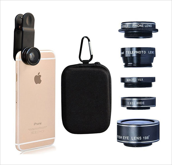 Samtone-5-in-1-Universal-Clip-On-Cell-Phone-Professional-HD-Camera-Lens-Kit