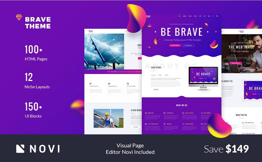 Brave HTML Theme