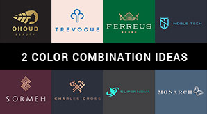 10 Best 2 Color Combination Ideas for Logo Design