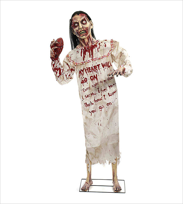 Forum-Novelties-Heartless-Zombie-Standing-Prop-for-Party-Decoration,-6-Feet,-Multicolor