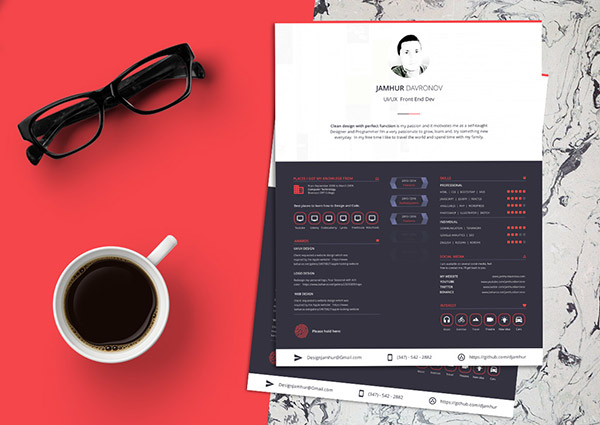 Free-Beautiful-Sketch-Resume-CV-Design-Template-3