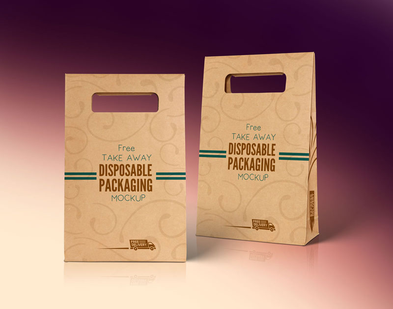 Free-Kraft-Paper-Disposable-Food-Bag-packaging-Mockup-PSD-File-2