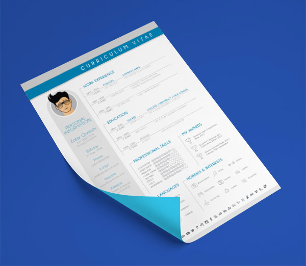 Free-Modern-CV-Resume-Design-Template-For-Graphic-Designers