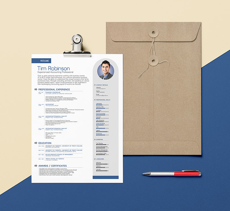 Free-Simple-Professional-Resume-Template-Design--in-Ai-Format