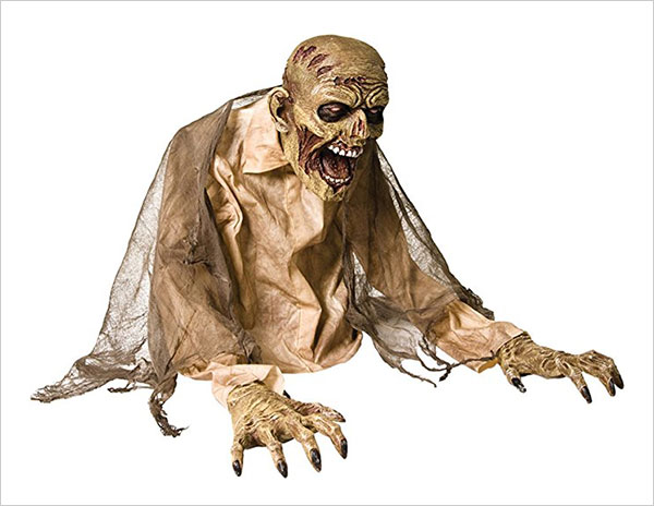 Gaseous Halloween Zombie Animated Statue