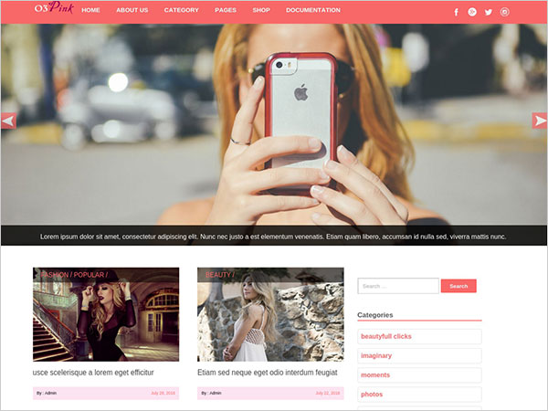 O3pink-clean-WordPress-blog-theme-with-premium-options