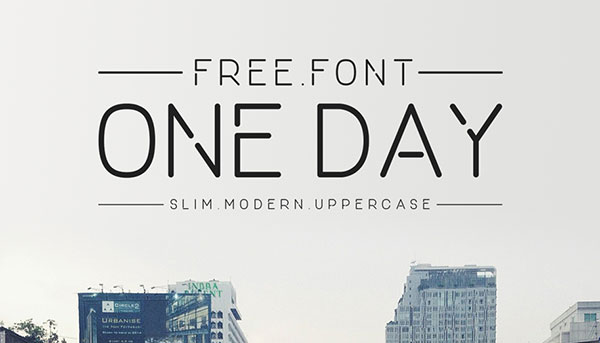 ONE-DAY---Free-Round-Corners-Sans-Serif-Font