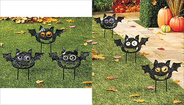 Set-of-3-Playful-Metal-Black-Bat-Halloween-Yard-Decor-Creepy-Spooky-Haunted-House-Stakes