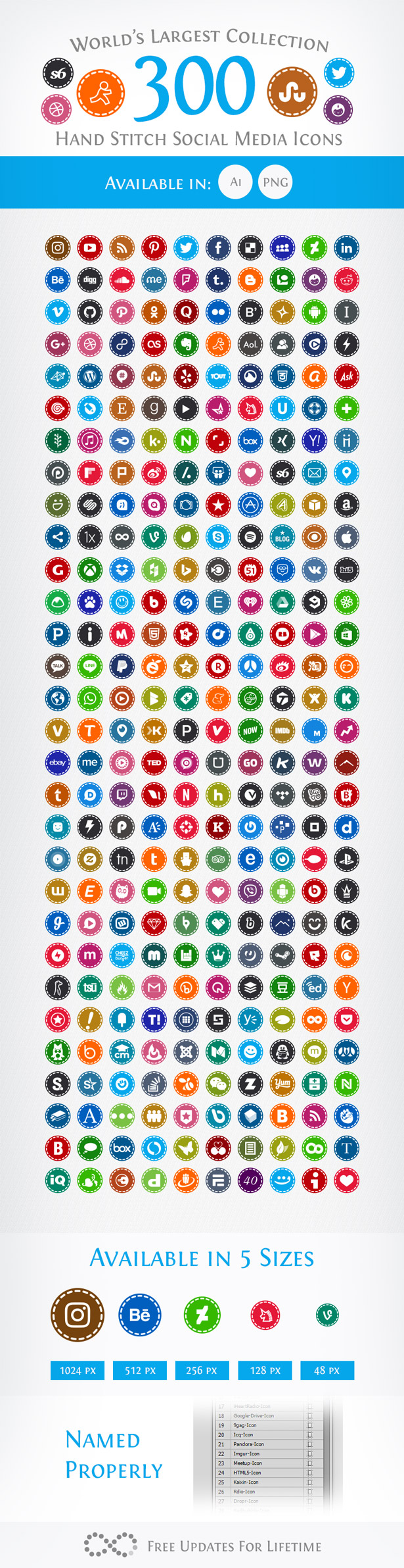 300-Hand-Stitch-Social-Media-Icons-2014-Vector-Ai-+-PNGs-Free-&-Premium